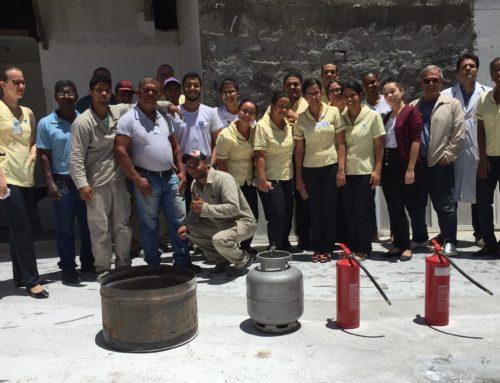 Realizado treinamento de prevenção e combate a incêndio